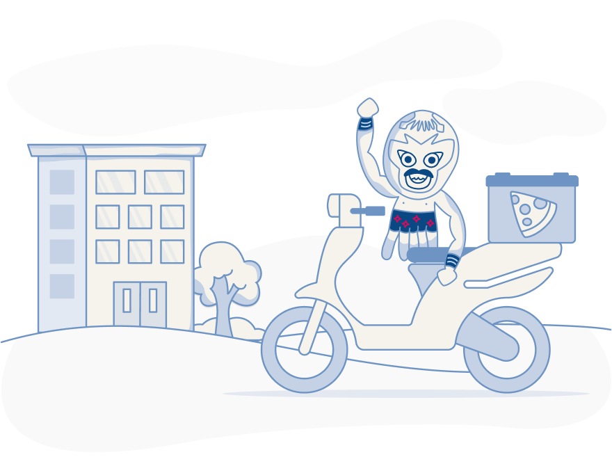Compare fast food delivery car insurance illustration