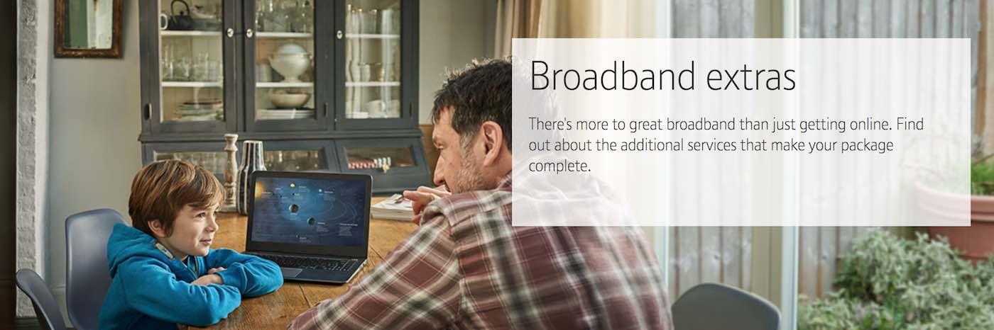 BT Broadband extras