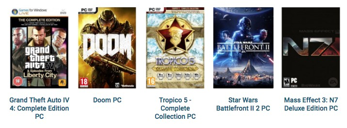 Shop PC games at CD Keys