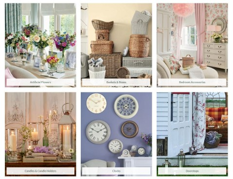 six categories on Laura Ashley website