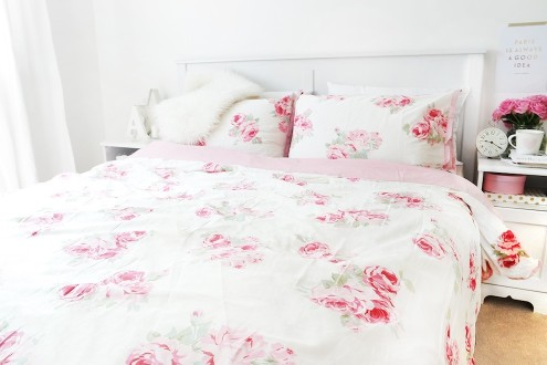 Bedding with roses by Laura Ashley