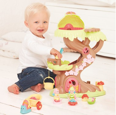 child playing with mothercare toys