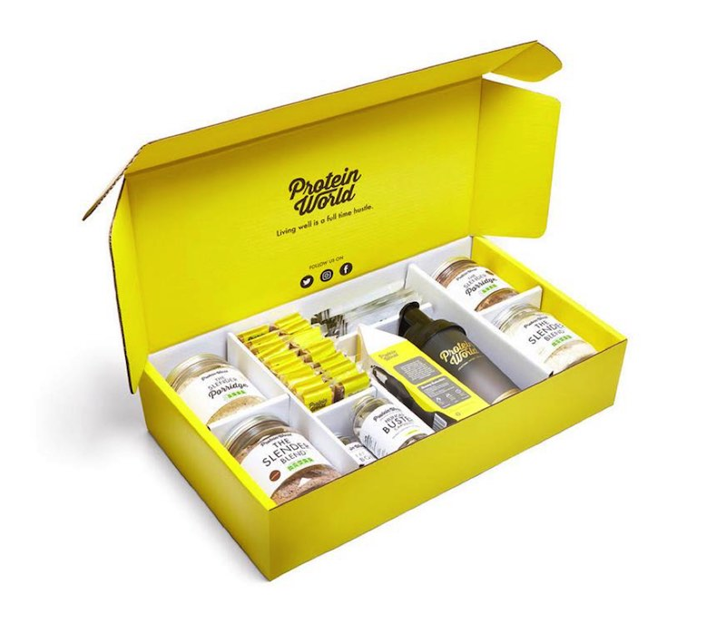 Box of Protein World Products
