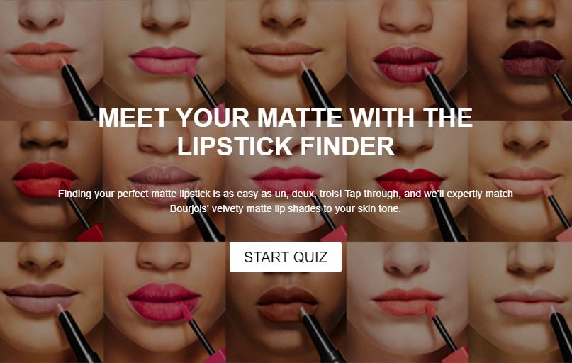 Feelunique Lipstick Finder quiz