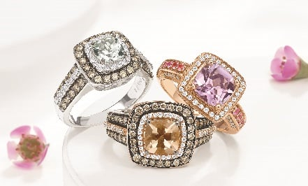 four ernest jones diamond rings