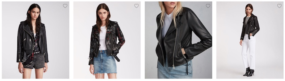 AllSaints women's leather jackets