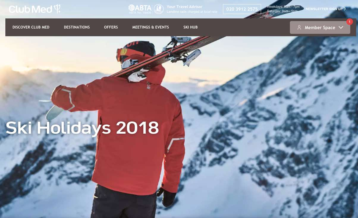 Club Med website
