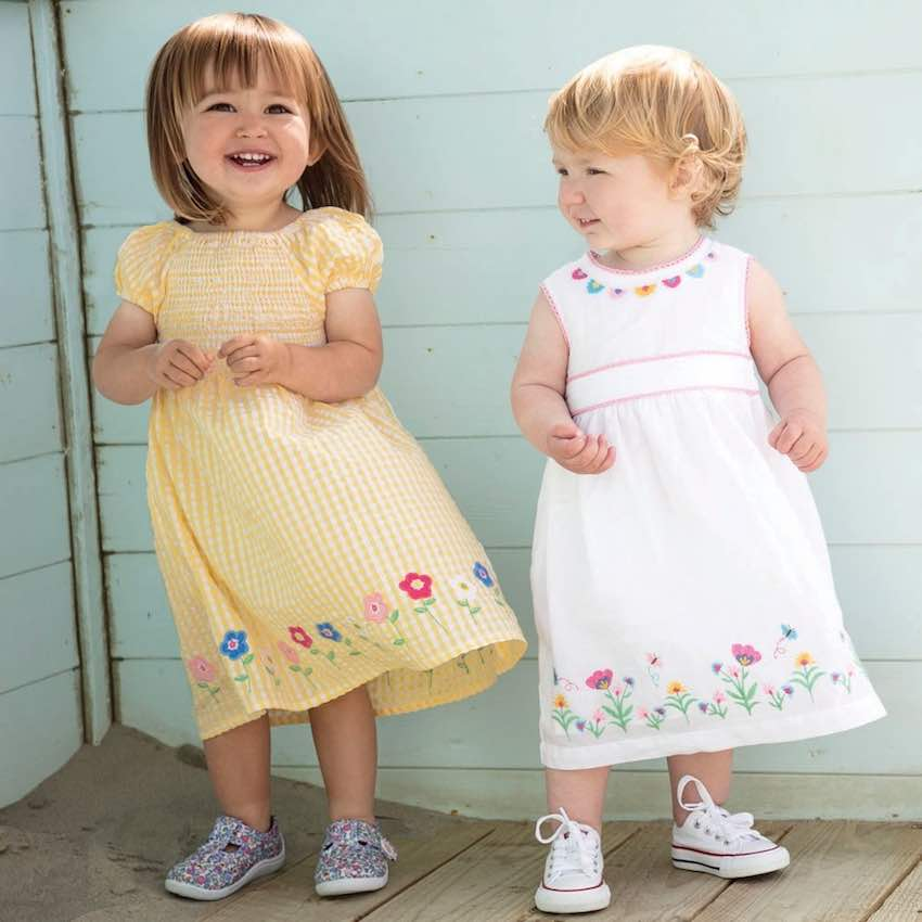 Toddlers in dresses from Jo Jo Maman Bébé