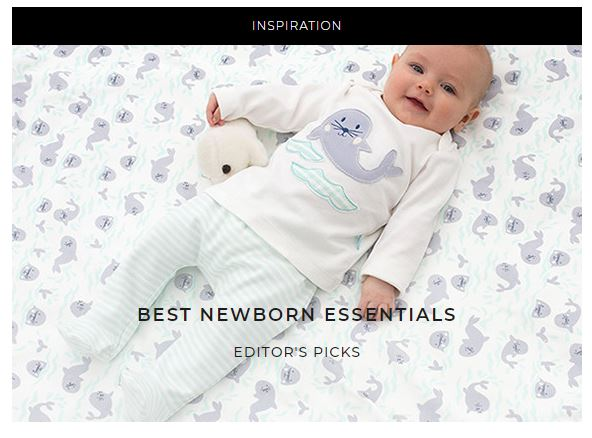 baby wearing house of fraser sleepsuit