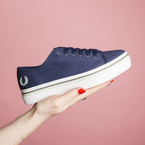 Blue Fred Perry trainers