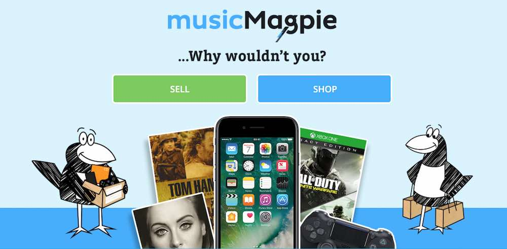 Music Magpie's website