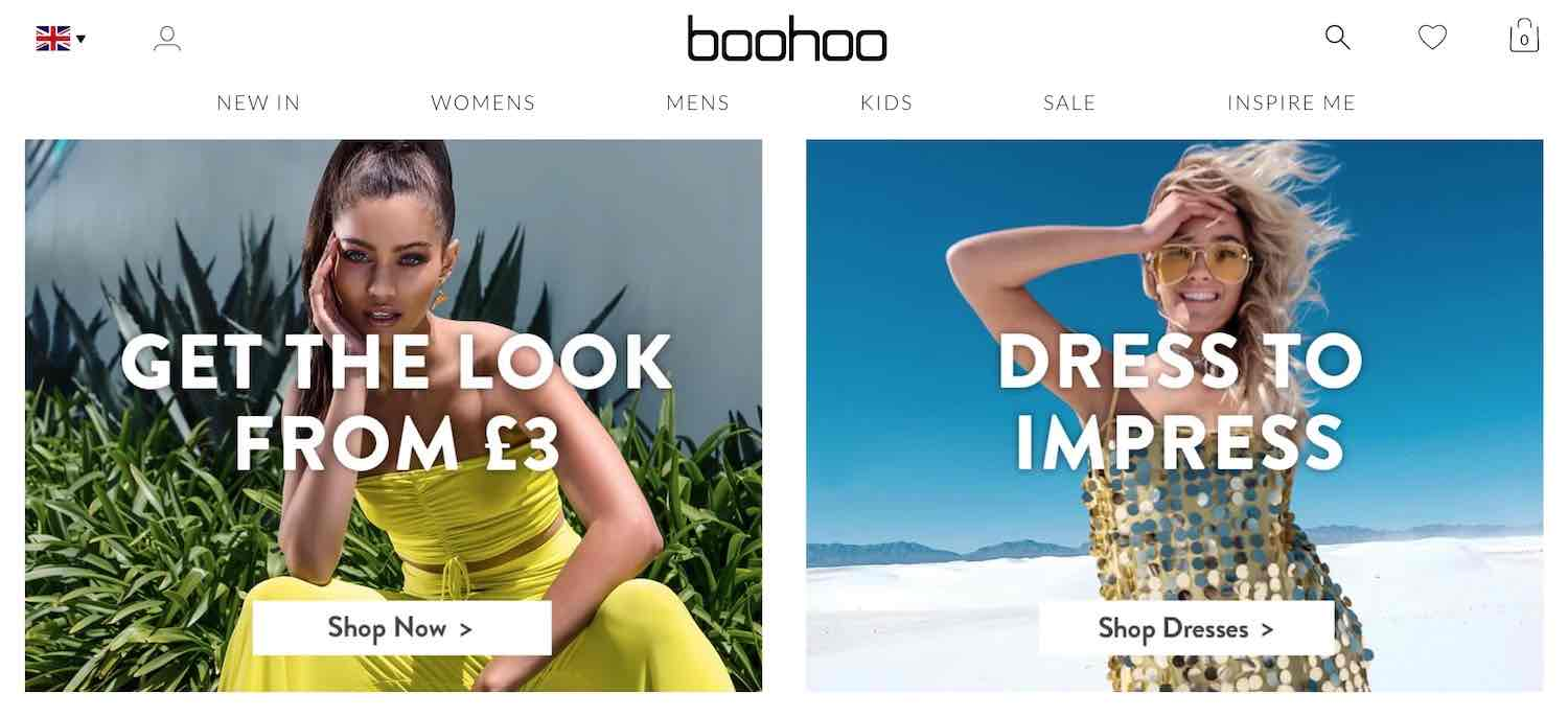 boohoo website
