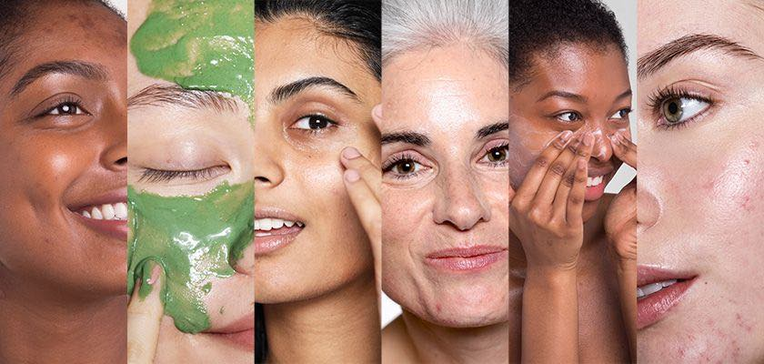 Women using Cult Beauty skincare products