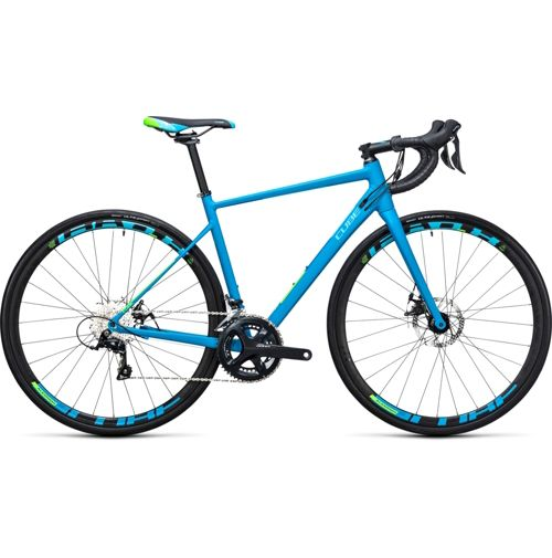 Blue road bike