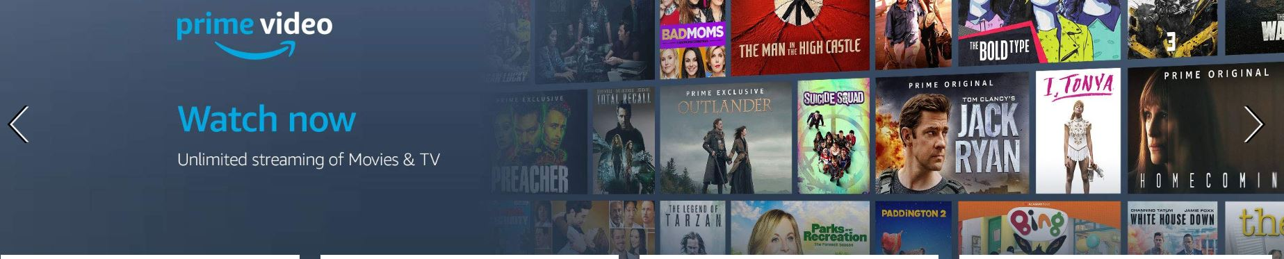 Movies and TV shows on Amazon Prime