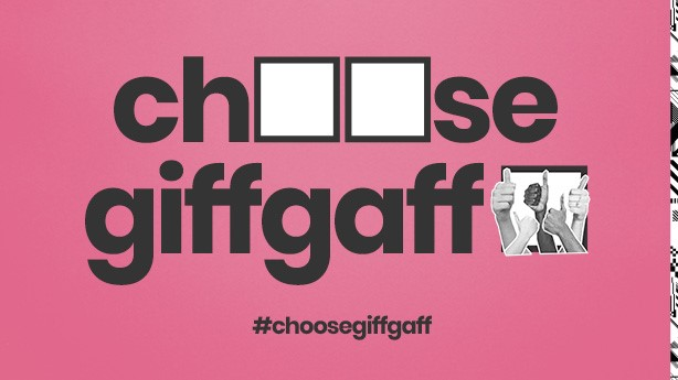 Choose giffgaff poster
