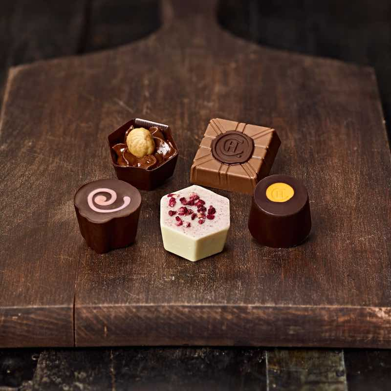 A selection of chocolates from Hotel Chocolat