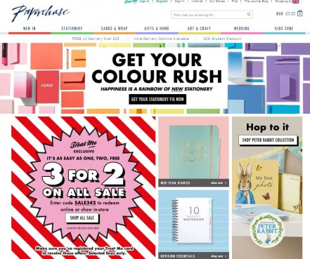 paperchase homepage