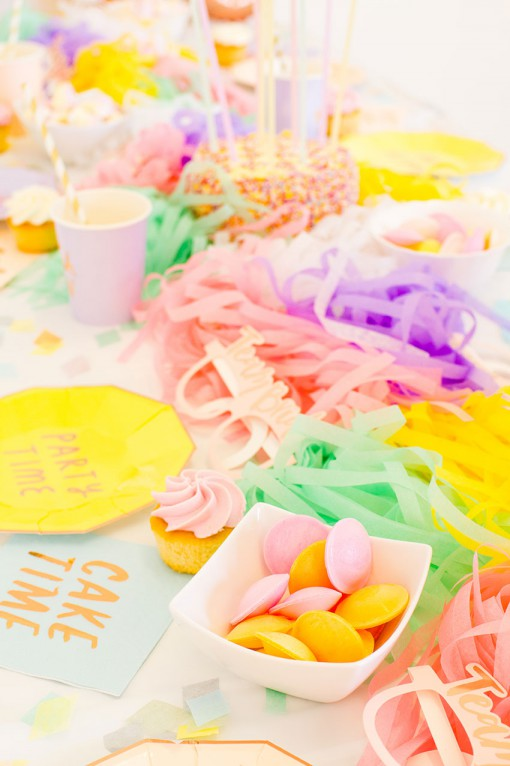 paperchase party decoration and sweets