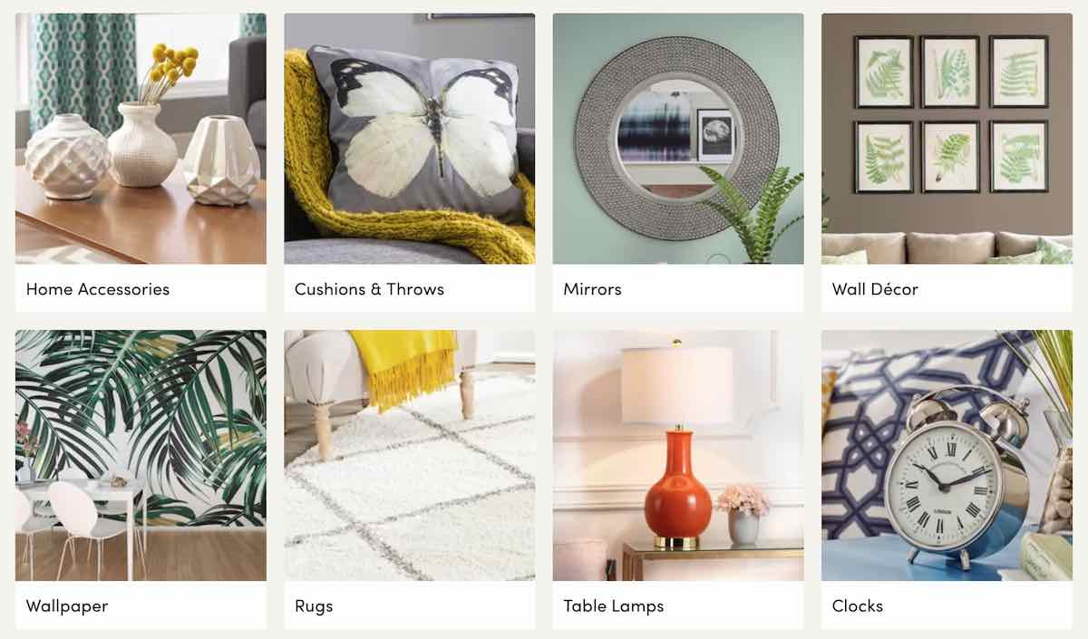 Home accessories at Wayfair