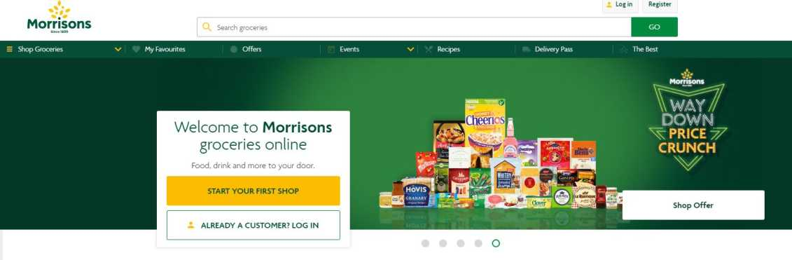 Morrisons website