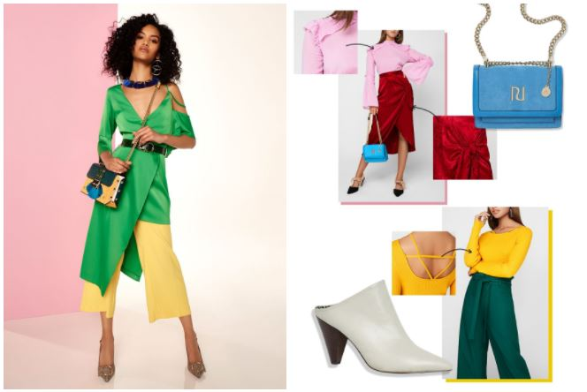 color blocking spring outfit