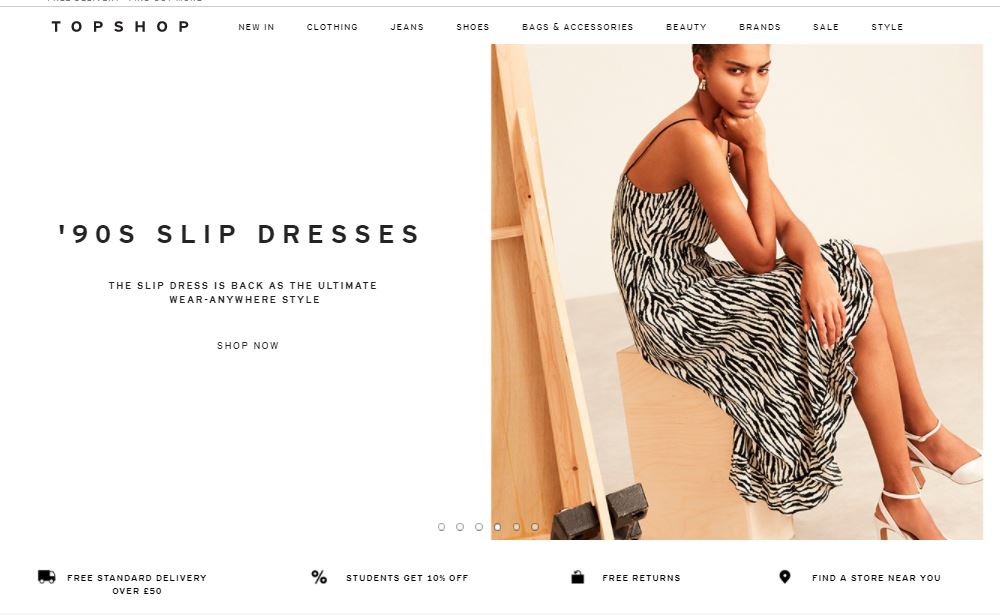 cashback on topshop dresses