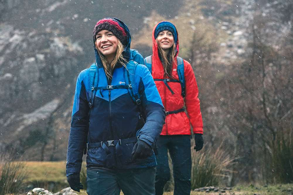 Women wearing Berghaus jackets