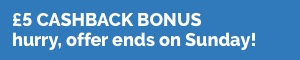 £5 Weekend Bonus Sept 17